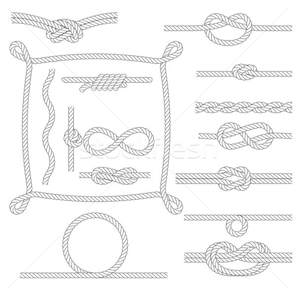 Figured rope frames, knots, borders and corners Stock photo © gomixer