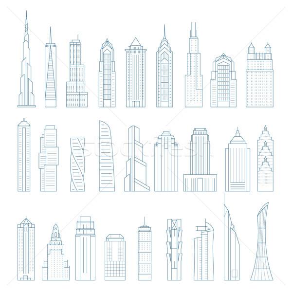 Moderno megalópole arranha-céus edifícios torres edifício Foto stock © gomixer