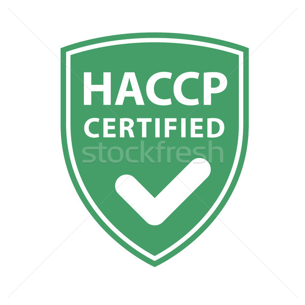 HACCP certificate shield - website emblem of HACCP standard  Stock photo © gomixer