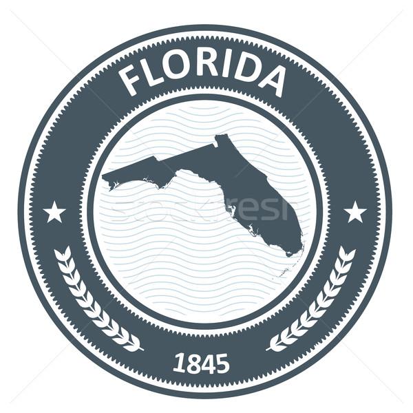 Stok fotoğraf: Florida · damga · harita · seyahat · siluet