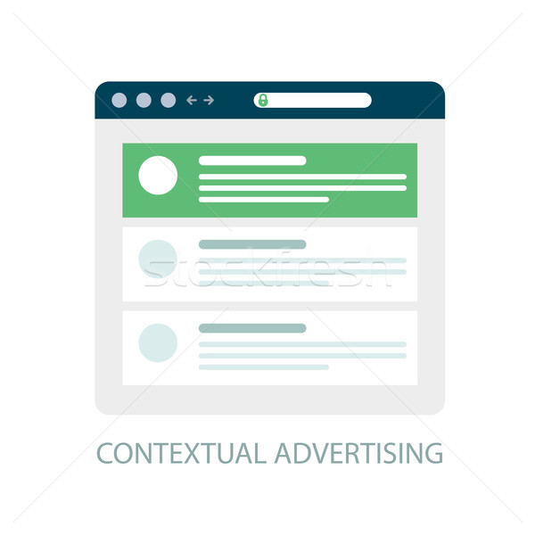 Pay Per Click icon, contextual advertising - ppc online marketin Stock photo © gomixer