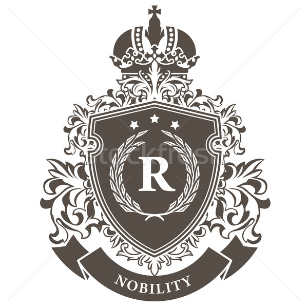 Stock photo: Imperial coat of arms - heraldic royal emblem shield with crown