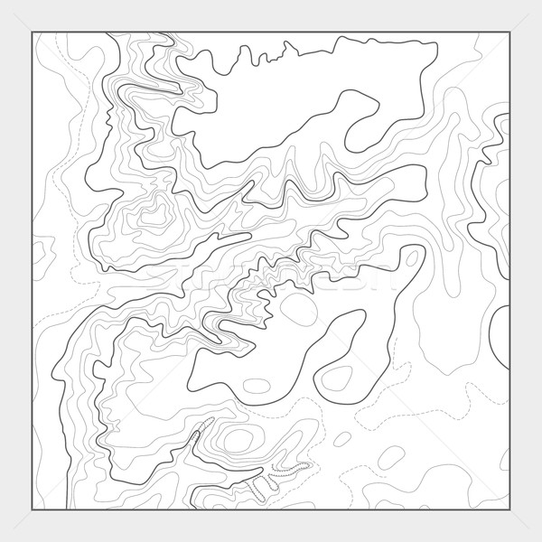 Topographic contour map background - topo heightmap Stock photo © gomixer