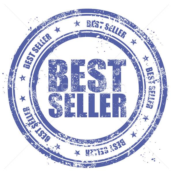 Blauw grunge stempel woorden best verkoper Stockfoto © gomixer