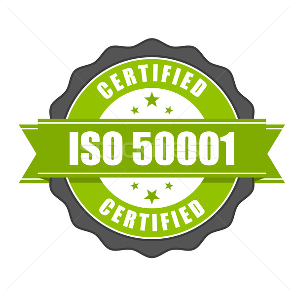 ISO 50001 standard certificate badge - Energy management Stock photo © gomixer