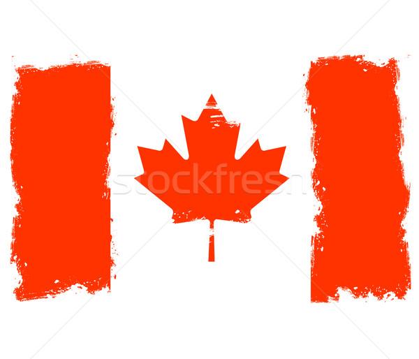 Threadbare flag of Canada Stock photo © gomixer