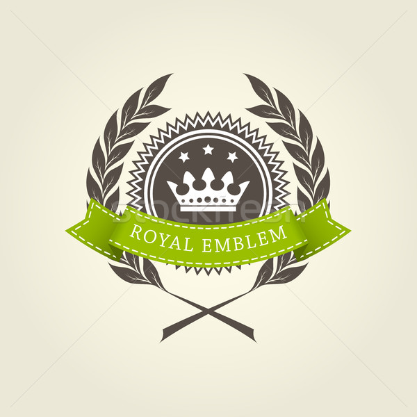 Royal emblem template with laurel wreath Stock photo © gomixer