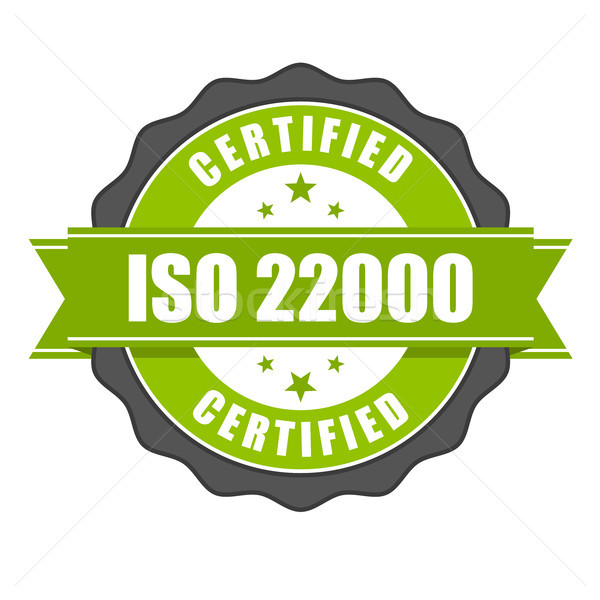 ISO 22000 standard certificate badge - Food safety management Stock photo © gomixer