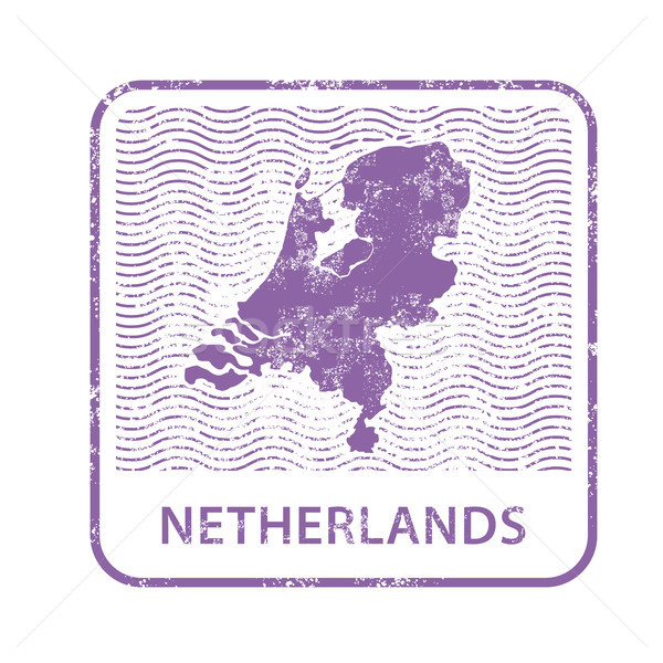 Netherlands postal stamp - outline of Holland counrty Stock photo © gomixer
