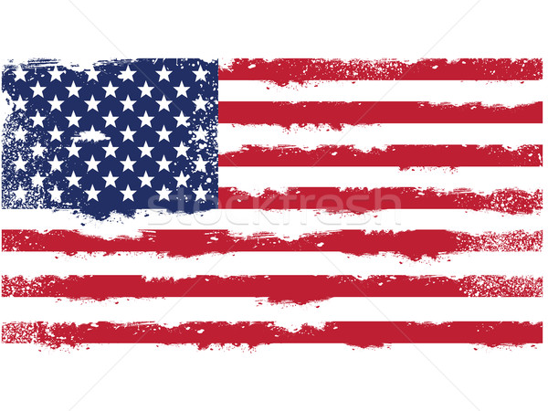 Threadbare flag of United States of America Stock photo © gomixer