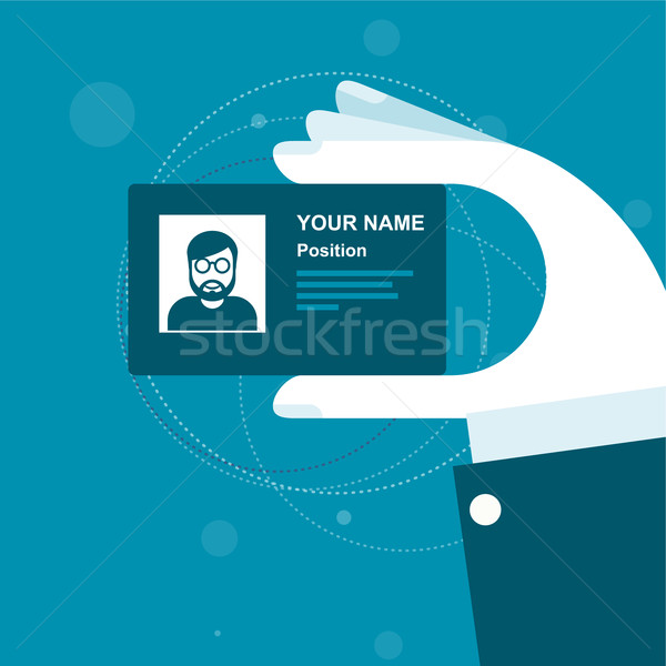 Stylized business card in hand  Stock photo © gomixer