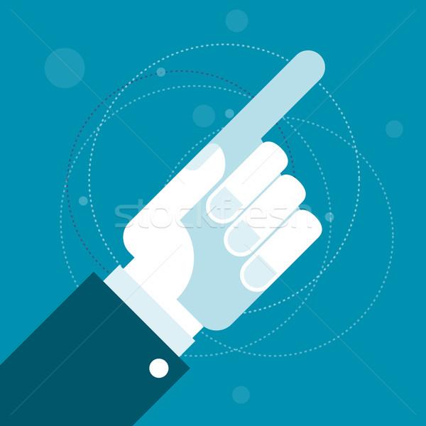 Kéz mutat mutatóujj mutat irányítás Stock fotó © gomixer