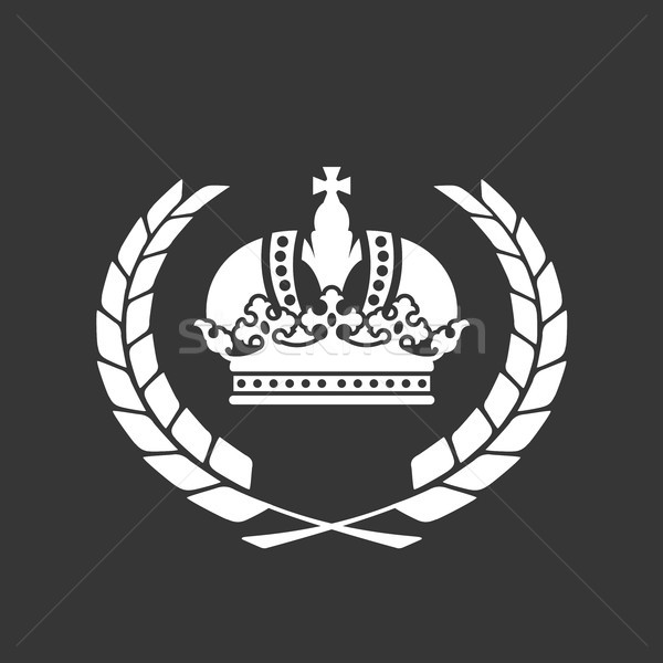 Family blazon or coat of arms - heraldic crown and laurel wreath Stock photo © gomixer