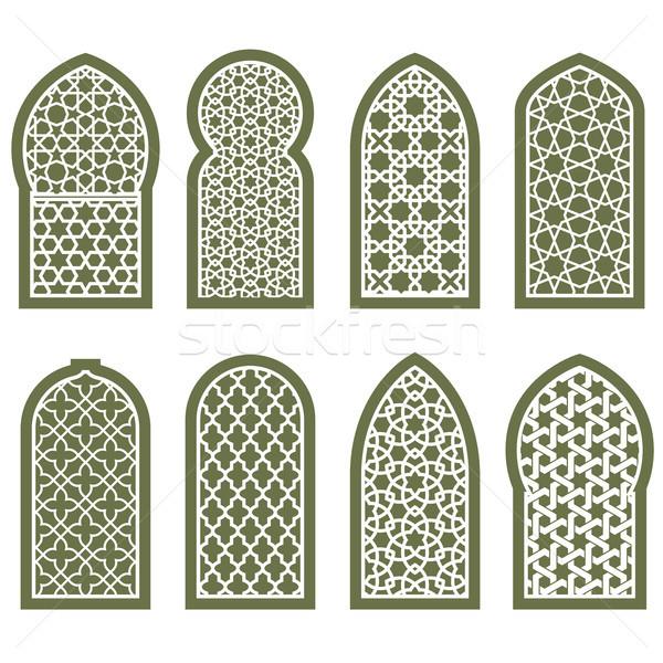 арабский окна орнамент шаблон дизайна Сток-фото © gomixer