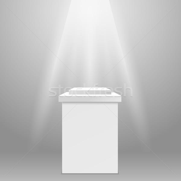 пусто квадратный подиум Spotlight свет Сток-фото © gomixer