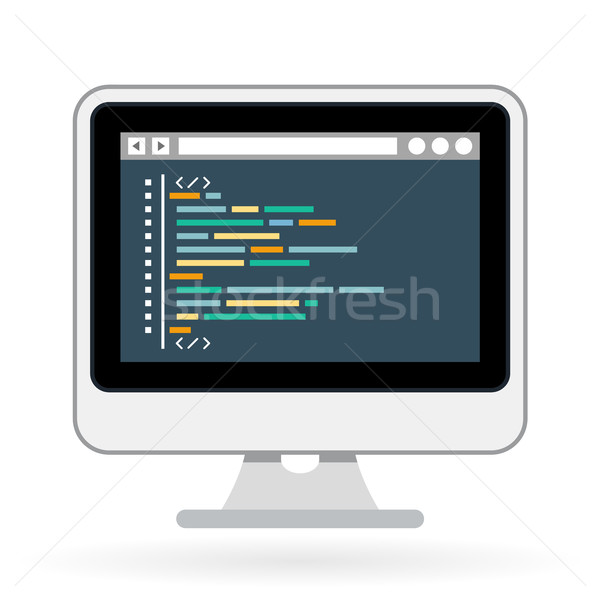 Programming and coding icon - website development on screen Stock photo © gomixer