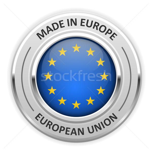 銀 金メダル ヨーロッパの 組合 eu フラグ ストックフォト © gomixer