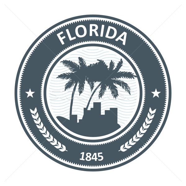 Флорида эмблема пальма город путешествия Сток-фото © gomixer