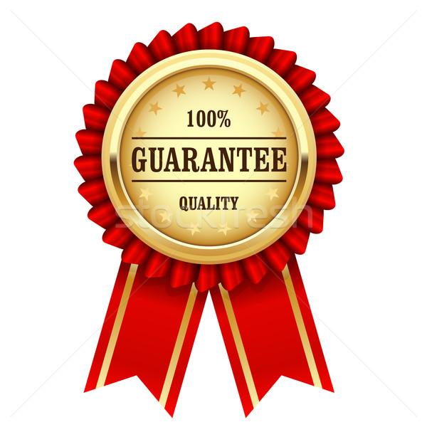 Adjudicación medalla de oro calidad garantizar negocios Foto stock © gomixer