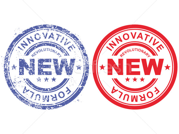 Grunge rubber stamp with inscription revolutionary new innovativ Stock photo © gomixer