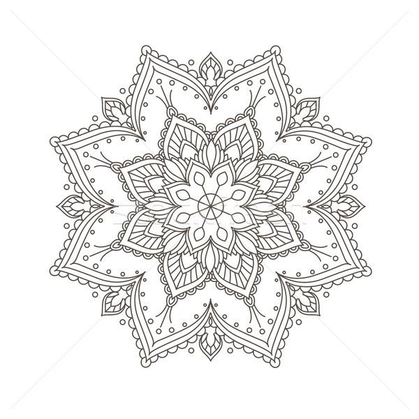 Ethnic mandala design - bohemian mandala pattern in henna style Stock photo © gomixer