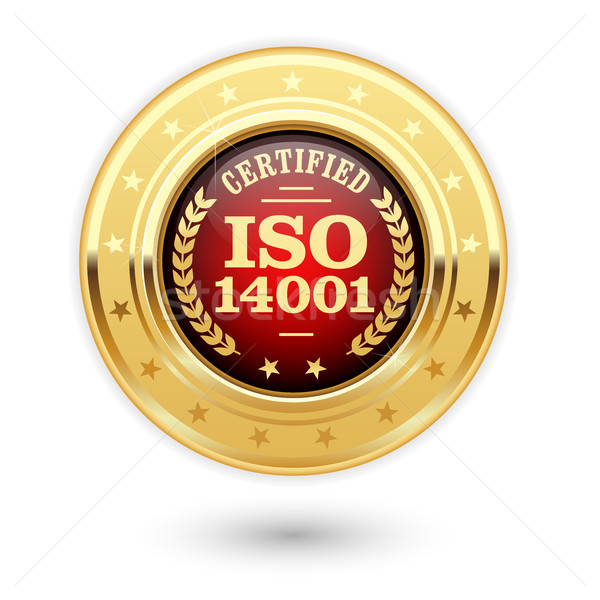 ISO 14001 certified medal - Environmental management insignia Stock photo © gomixer
