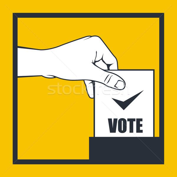 Verkiezing hand stemming vak Stockfoto © gomixer
