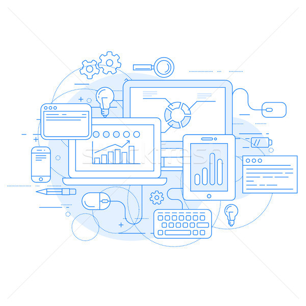 Website analytics and online marketing tools - data statisics Stock photo © gomixer
