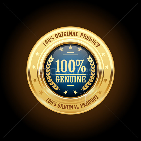 Genuine, original product golden insignia (medal) Stock photo © gomixer
