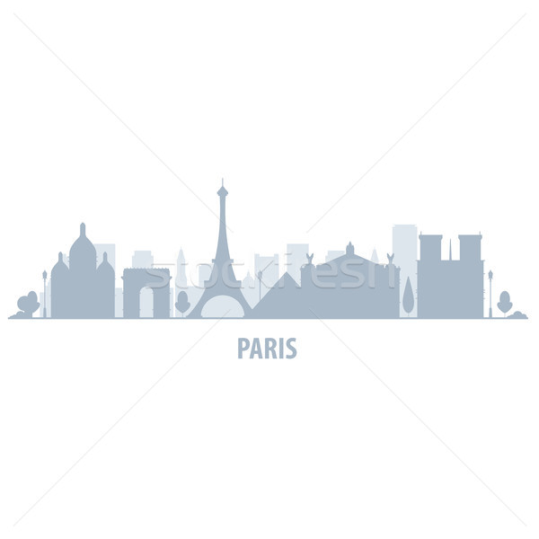 Paris city skyline - cityscape silhouette with landmarks Stock photo © gomixer