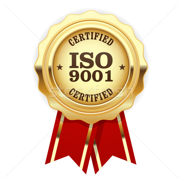 ISO 9001 certified - quality standard golden seal Stock photo © gomixer