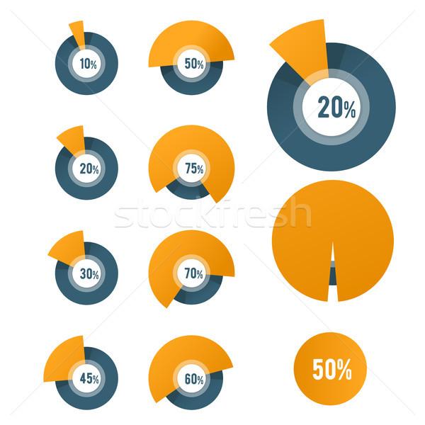 Kördiagram sablon kör diagram üzlet jelentés Stock fotó © gomixer