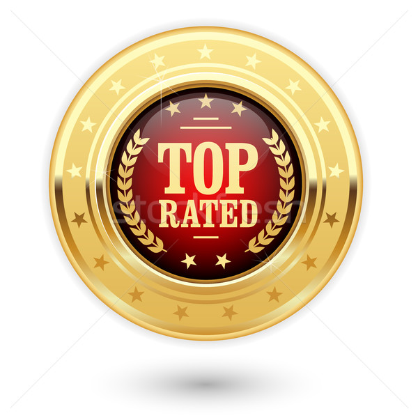 Top rated medal - rating golden insignia Stock photo © gomixer