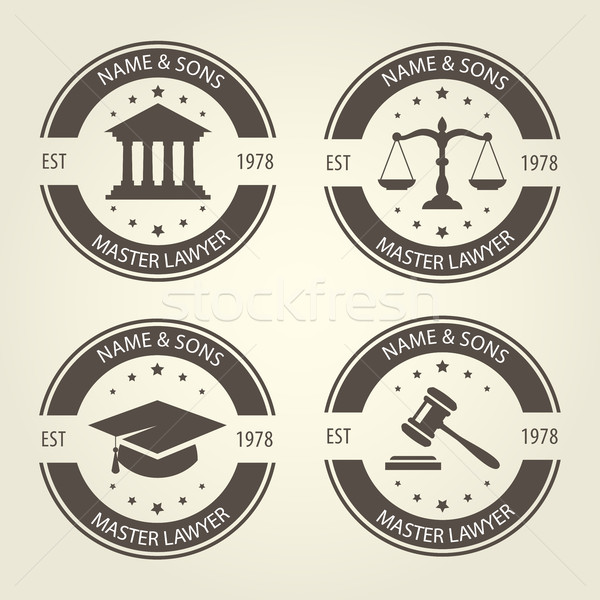 Lawyer bureau emblems and labels Stock photo © gomixer