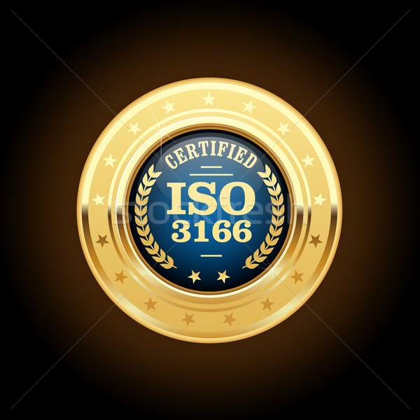Iso standaard medaille land teken pin Stockfoto © gomixer