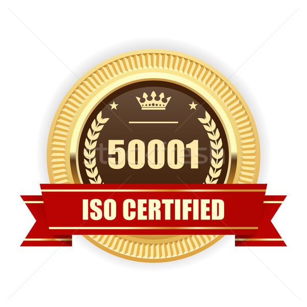 Iso certificado medalha energia gestão assinar Foto stock © gomixer
