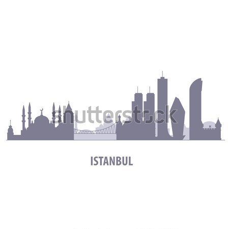 Istanbul cityscape - silhouette of skyline of Istanbul Stock photo © gomixer