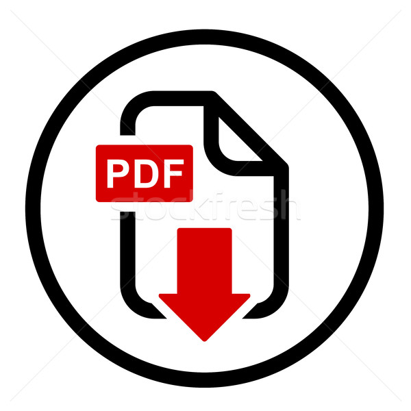 PDF file download simple icon Stock photo © gomixer