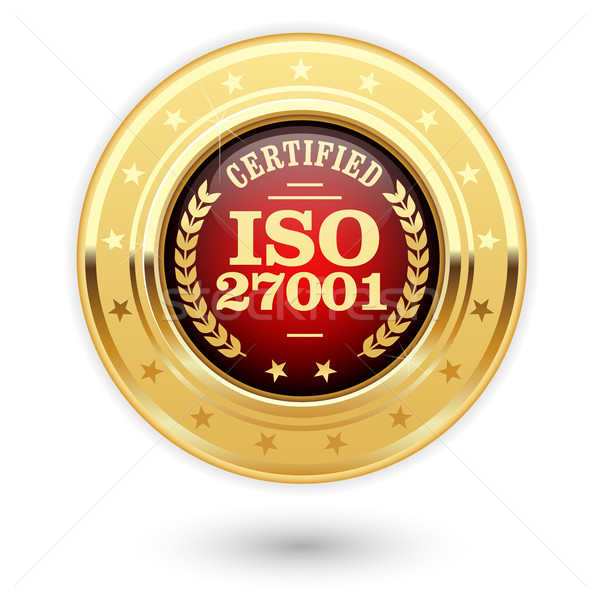 ISO 27001 certified medal - Information security management Stock photo © gomixer