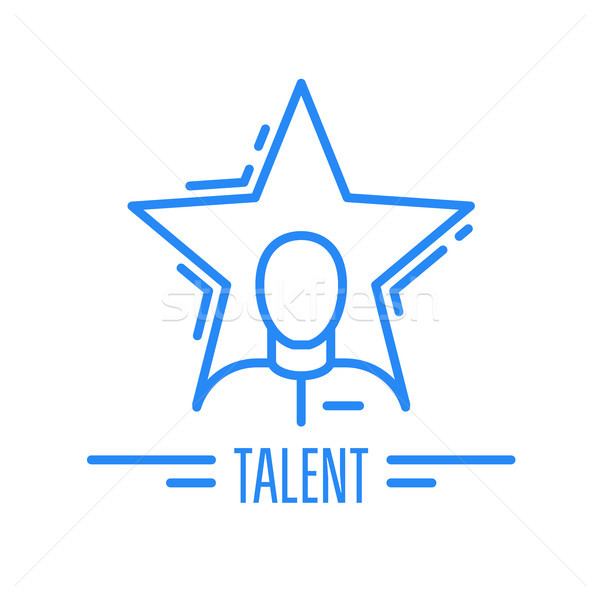 Got talent - emblem with man and star, celebrity symbol Stock photo © gomixer