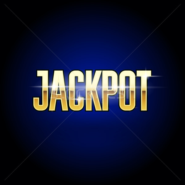 Jackpot golden inscription - casino and big win poster Stock photo © gomixer