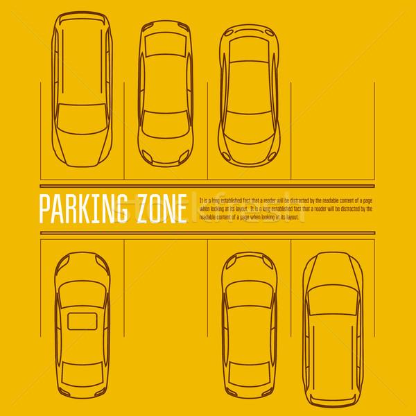 Samochodu parking górę widoku samochody parku Zdjęcia stock © gomixer