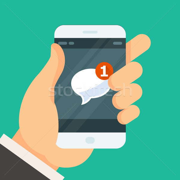 New incoming message - email received icon on on smartphone scre Stock photo © gomixer