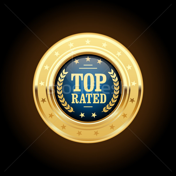 Top rated golden insignia - appreciated medal Stock photo © gomixer