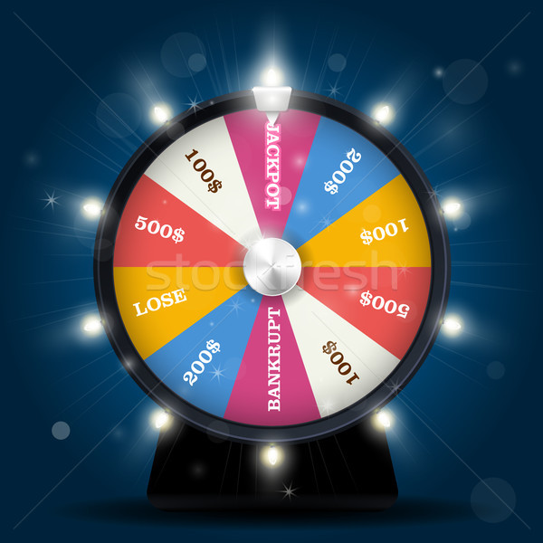 Jackpot on wheel of fortune - lottery win Stock photo © gomixer