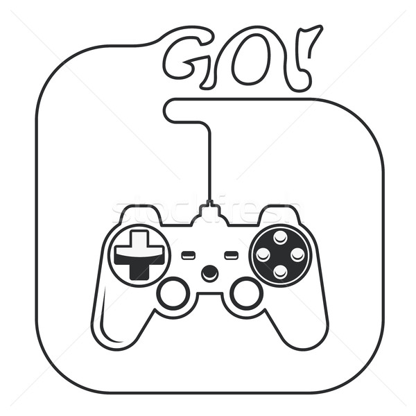 Gamepad in hands icon - game console joystick  Stock photo © gomixer