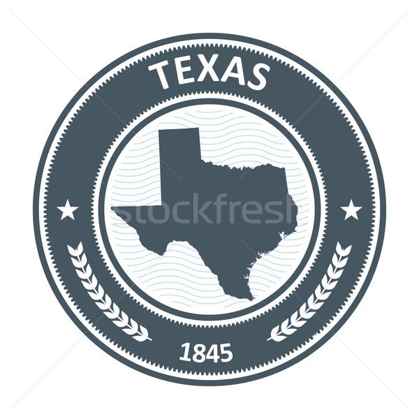Texas sello mapa silueta viaje sello Foto stock © gomixer
