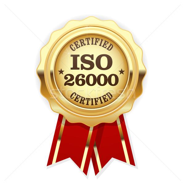 ISO 26000 standard rosette - social responsibility Stock photo © gomixer