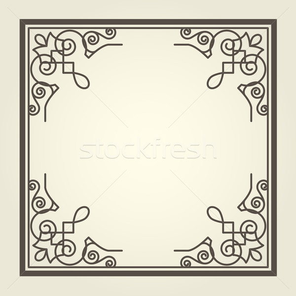 Square frame with ornate curly corners Stock photo © gomixer