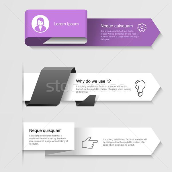 Moderno opções passo infográficos Foto stock © gomixer
